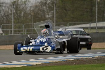 © Octane Photographic Ltd. Donington Park un-silenced general test day, 26th April 2012. Tyrrell 006 - Rob Hall, Historic F1. Digital Ref : 0301lw7d8637