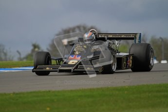 © Octane Photographic Ltd. Donington Park un-silenced general test day, 26th April 2012. Lotus 77 - Rob Hall, Historic F1. Digital Ref : 0301lw7d9150