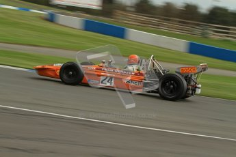 © Octane Photographic Ltd. Donington Park un-silenced general test day, 26th April 2012. Cengiz Artam, March 701, Historic F1. Digital Ref : 0301lw7d9815