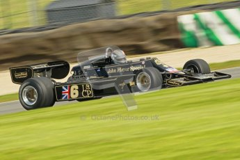 © Octane Photographic Ltd. Donington Park un-silenced general test day, 26th April 2012. Lotus 77 - Rob Hall, Historic F1. Digital Ref : 0301cb1d3082
