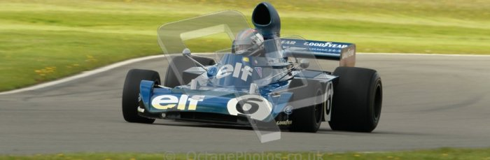 © Octane Photographic Ltd. Donington Park un-silenced general test day, 26th April 2012. Rob Hall, ex-Jackie Stewart Tyrrell006, Historic F1 Championship, Historic F1. Digital Ref : 0301cb1d3133