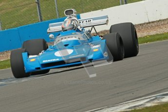 © Octane Photographic Ltd. Donington Park un-silenced general test day, 26th April 2012. Matra MS120 - Historic F1 Championship - Rob Hall. Digital Ref : 0301cb1d3444