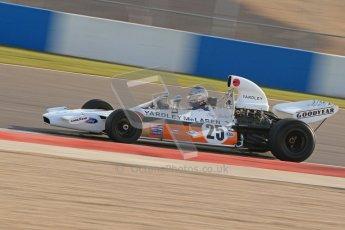 © Octane Photographic Ltd. Donington Park un-silenced general testing. Thursday 29th March 2012. McLaren M19, Historic F1. Digital Ref : 0261cb7d4002
