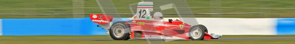 © Octane Photographic Ltd. Donington Park un-silenced general testing. Thursday 29th March 2012.  Ex-Niki Lauda Ferrari 312T, Historic F1. Digital Ref : 0261cb7d4988
