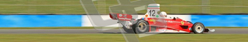 © Octane Photographic Ltd. Donington Park un-silenced general testing. Thursday 29th March 2012.  Ex-Niki Lauda Ferrari 312T, Historic F1. Digital Ref : 0261cb7d5009