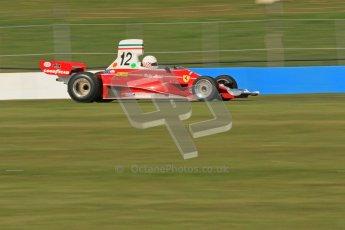 © Octane Photographic Ltd. Donington Park un-silenced general testing. Thursday 29th March 2012.  Ex-Niki Lauda Ferrari 312T, Historic F1. Digital Ref : 0261cb7d5021