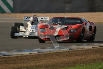 © Octane Photographic Ltd. Donington Park un-silenced general testing. Thursday 29th March 2012. Ford GT40 Mk.I and Williams FW06 - Rob Hall. Digital Ref : 0261lw7d4137