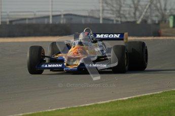 © Octane Photographic Ltd. Donington Park un-silenced general testing. Thursday 29th March 2012, Historic F1. Digital Ref : 0261lw7d4616
