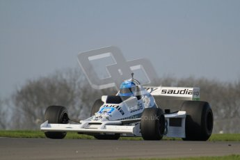 © Octane Photographic Ltd. Donington Park un-silenced general testing. Thursday 29th March 2012. Williams FW06, Historic F1. Digital Ref : 0261lw7d4742