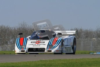 © Octane Photographic Ltd. Donington Park un-silenced general testing. Thursday 29th March 2012. Lancia LC2 - Rupert Clevely. Digital Ref : 0261lw7d4790