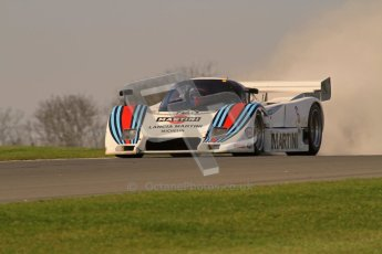 © Octane Photographic Ltd. Donington Park un-silenced general testing. Thursday 29th March 2012. Lancia LC2 - Rupert Clevely. Digital Ref : 0261lw7d4846