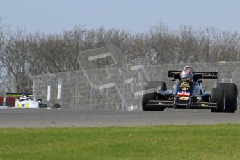 © Octane Photographic Ltd. Donington Park un-silenced general testing. Thursday 29th March 2012. Lotus 77 - Rob Hall, Historic F1. Digital Ref : 0261lw7d5564