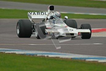 © Octane Photographic Ltd. Donington Park testing, May 3rd 2012. McLaren M19 - Rob Hall, Historic F1. Digital Ref : 0313cb1d6667
