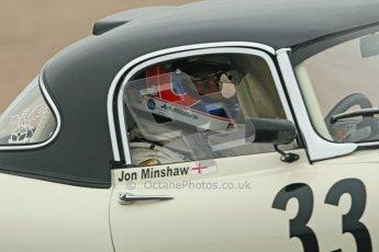 © Octane Photographic Ltd. Donington Park testing, May 3rd 2012. Jon Minshaw - Jaguar E-Type. Digital Ref : 0313cb1d6897
