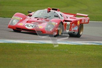 © Octane Photographic Ltd. Donington Park testing, May 3rd 2012. Ex-Ickx/Giunti Ferrari 512M. Digital Ref : 0313cb1d7059