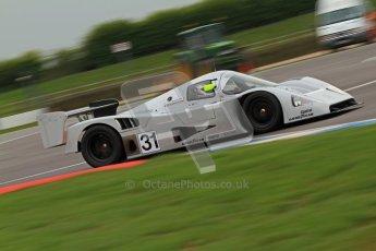 © Octane Photographic Ltd. Donington Park testing, May 3rd 2012. Bob Berridge driving the ex-Michael Schumacher/Mauro Baldi Sauber C11. Digital Ref : 0313cb7d9361