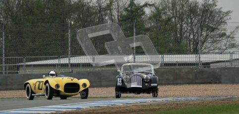 © Octane Photographic Ltd. Donington Park testing, May 3rd 2012. Morgan and Ex-Carroll Shelby/Dan Gurney Old Yeller Mk.II, Sean McLung. Digital Ref : 0313lw7d5668