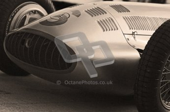 © Octane Photographic Ltd. 2012. Donington Park - General Test Day. Thursday 16th August 2012. 1939 Mercedes W163, Historic F1. Digital Ref : 0458cb1d0347