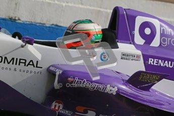 © Octane Photographic Ltd. 2012. Donington Park - General Test Day. Thursday 16th August 2012. Formula Renault BARC. Josh Webster - MGR Motorsport. Digital Ref : 0458cb1d0499