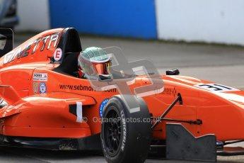 © Octane Photographic Ltd. 2012. Donington Park - General Test Day. Thursday 16th August 2012. Formula Renault BARC. Seb Morris - Fortec Motorsports. Digital Ref : 0458lw7d0130
