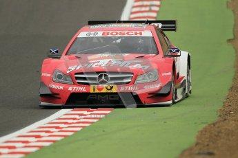 © Octane Photographic Ltd. 2012. DTM – Brands Hatch  - Friday Practice 1. Susie Wolff - TV Spielfilm Mercedes AMG C-Coupe. Digital Ref : 0340cb1d7134