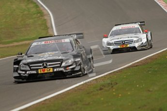 © Octane Photographic Ltd. 2012. DTM – Brands Hatch  - Friday Practice 1. Gary Paffett - Mercedes AMG C-Coupe - Thomas Sabo Mercedes AMG. Digital Ref :