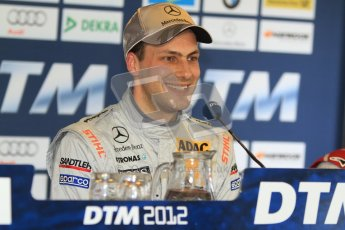© Octane Photographic Ltd. 2012. DTM – Brands Hatch - Post-race press conference. Sunday 20th May 2012. Gary Paffett - AMG C-Coupe - Thomas Sabo Mercedes AMG.  Digital Ref : 0346cb7d7286