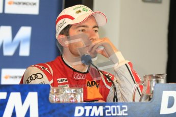 © Octane Photographic Ltd. 2012. DTM – Brands Hatch - Post-race press conference. Sunday 20th May 2012. Mike Rockenfeller - Audi A5 DTM - Audi Sport Team Phoenix. Digital Ref : 0346cb7d7301