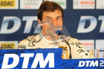 © Octane Photographic Ltd. 2012. DTM – Brands Hatch  - Saturday Press Conference. Bruno Spengler - BMW M3 DTM - BMW Team Schnitzer. Digital Ref :