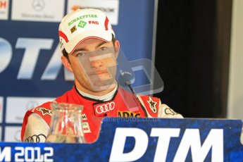 © Octane Photographic Ltd. 2012. DTM – Brands Hatch  - Saturday Press Conference.  Mike Rockenfeller - Audi A5 DTM - Audi Sport Team Phoenix. Digital Ref :