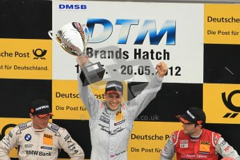 © Octane Photographic Ltd. 2012. DTM – Brands Hatch  - Race. Sunday 20th May 2012. Gary Paffett - Mercedes AMG C-Coupe - Thomas Sabo Mercedes AMG, Bruno Spengler - BMW M3 DTM - BMW Team Schnitzer and Mike Rockenfeller - Audi A5 DTM - Audi Sport Team Phoenix. Digital Ref :