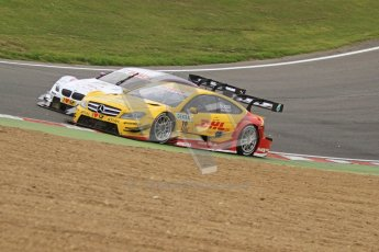 © Octane Photographic Ltd. 2012. DTM – Brands Hatch  - Race. Sunday 20th May 2012. David Coulthard - Mercedes AMG C-Coupe - DHL Paket Mercedes AMG. Digital Ref :