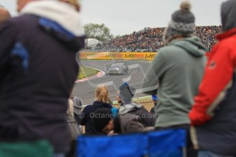 © Octane Photographic Ltd. 2012. DTM – Brands Hatch  - Race. Sunday 20th May 2012. Gary Paffett seen through the crowd - Mercedes AMG C-Coupe - Thomas Sabo Mercedes AMG. Digital Ref :