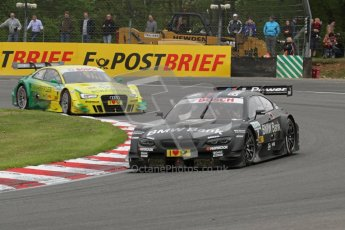 © Octane Photographic Ltd. 2012. DTM – Brands Hatch  - Race. Sunday 20th May 2012. Bruno Spengler - BMW M3 DTM - BMW Team Schnitzer and Mike Rockenfeller - Audi A5 DTM - Audi Sport Team Phoenix. Digital Ref :