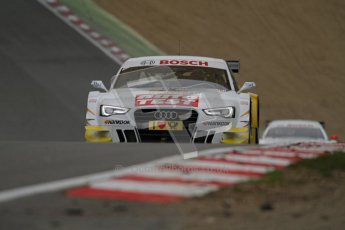 © Octane Photographic Ltd. 2012. DTM – Brands Hatch  - DTM Warm up session. Sunday 20th May 2012. Timo Scheider - Audi A5 DTM - Audi Sport Team Abt Sportsline. Digital Ref : 0347lw7d5037