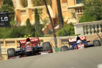 © Octane Photographic Ltd. 2012. F1 Monte Carlo - GP2 Practice 1. Thursday  24th May 2012. Giancarlo Serenelli - Venezula GP Lazarus and Jolyon Palmer - iSport International. Digital Ref : 0353cb1d0723