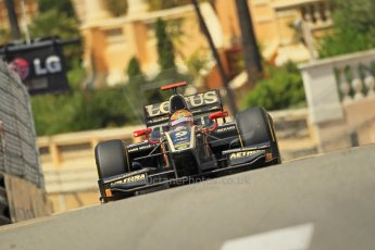 © Octane Photographic Ltd. 2012. F1 Monte Carlo - GP2 Practice 1. Thursday  24th May 2012. James Calado - Lotus GP. Digital Ref : 0353cb1d0735