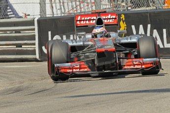 © Octane Photographic Ltd. 2012. F1 Monte Carlo - Qualifying - Session 2. Saturday 26th May 2012. Jenson Button - McLaren. Digital Ref : 0355cb1d6702