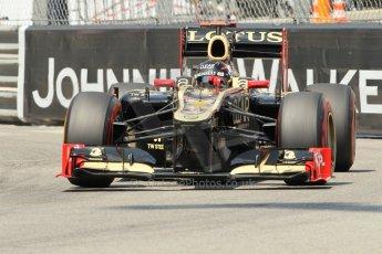 © Octane Photographic Ltd. 2012. F1 Monte Carlo - Qualifying - Session 2. Saturday 26th May 2012. Kimi Raikkonen - Lotus. Digital Ref : 0355cb1d6725