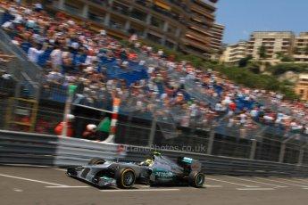 © Octane Photographic Ltd. 2012. F1 Monte Carlo - Qualifying - Session 1. Saturday 26th May 2012. Nico Rosberg - Mercedes. Digital Ref : 0355cb7d8756