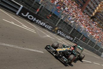 © Octane Photographic Ltd. 2012. F1 Monte Carlo - Qualifying - Session 2. Saturday 26th May 2012. Heikki Kovalainen - Caterham. Digital Ref : 0355cb7d8876