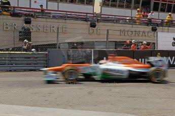 © Octane Photographic Ltd. 2012. F1 Monte Carlo - Qualifying - Session 2. Saturday 26th May 2012. Paul di Resta - Fore India. Digital Ref : 0355cb7d8939