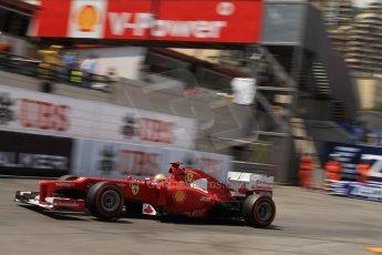 © Octane Photographic Ltd. 2012. F1 Monte Carlo - Qualifying - Session 2. Saturday 26th May 2012. Fernando Alonso - Ferrari. Digital Ref : 0355cb7d8963