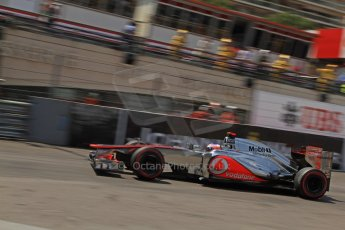 © Octane Photographic Ltd. 2012. F1 Monte Carlo - Qualifying - Session 2. Saturday 26th May 2012. Jenson Button - McLaren. Digital Ref : 0355cb7d8974