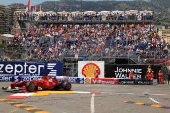 © Octane Photographic Ltd. 2012. F1 Monte Carlo - Qualifying - Session 2. Saturday 26th May 2012. Fernando Alonso - Ferrari. Digital Ref : 0355cb7d8997
