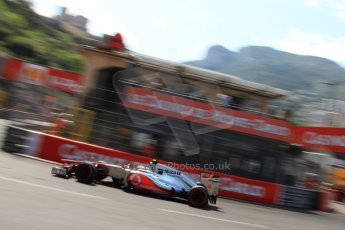 © Octane Photographic Ltd. 2012. F1 Monte Carlo - Qualifying - Session 3. Saturday 26th May 2012. Lewis Hamilton - McLaren. Digital Ref : 0355cb7d9088
