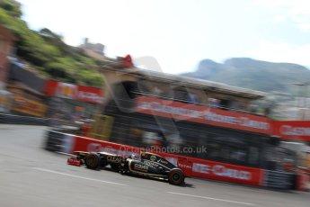 © Octane Photographic Ltd. 2012. F1 Monte Carlo - Qualifying - Session 3. Saturday 26th May 2012. Kimi Raikkonen - Lotus. Digital Ref : 0355cb7d9093