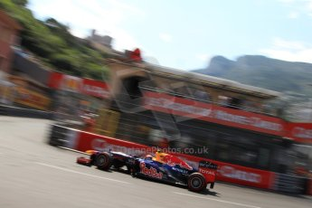 © Octane Photographic Ltd. 2012. F1 Monte Carlo - Qualifying - Session 3. Saturday 26th May 2012. Mark Webber - Red Bull. Digital Ref : 0355cb7d9097