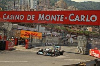 © Octane Photographic Ltd. 2012. F1 Monte Carlo - Qualifying - Session 3. Saturday 26th May 2012. Nico Rosberg - Mercedes. Digital Ref : 0355cb7d9104