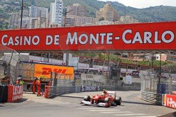 © Octane Photographic Ltd. 2012. F1 Monte Carlo - Qualifying - Session 3. Saturday 26th May 2012. Felipe Massa - Ferrari. Digital Ref : 0355cb7d9114